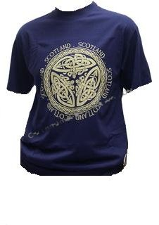 Celtic Scotland T Shirt in Navy Blue
