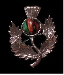 Heather Gem Thistle Brooch