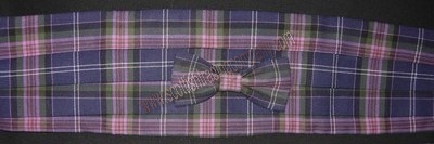 Selkirk Mill Tartans Bow Tie and Cummerbund Set