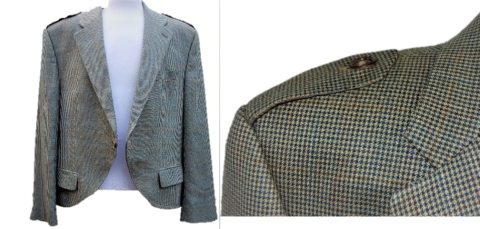 44R Herringbone Wool Kilt Jacket