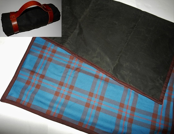 Tartan and Waxed Cloth Blanket Reiver