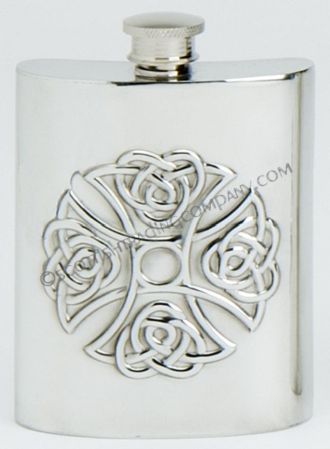 Celtic Cross Hip Flask