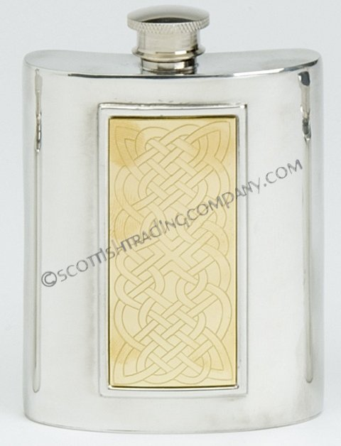 Celtic Rope Flask with Brass Insert