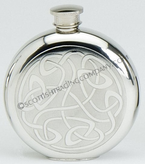 Celtic Scroll Round Flask