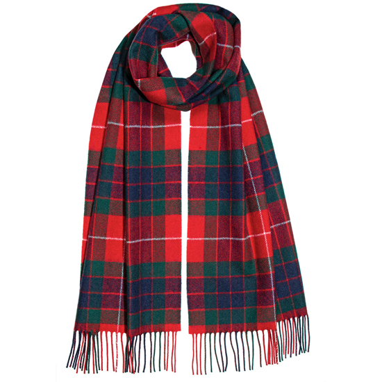 Fraser Red Modern Lambswool Scarf