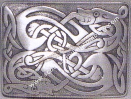Celtic Zoomorphic Kilt Belt Buckle