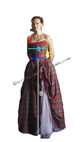 Tartan Gown Measurements