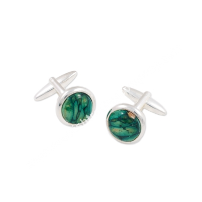Heathergem Cirlcle Cufflinks