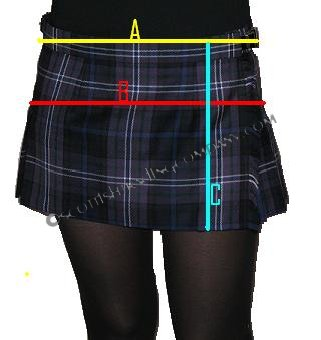 Ladies Hipster Skirt Measurement