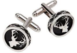 Scottish Stag Round Cuff Links