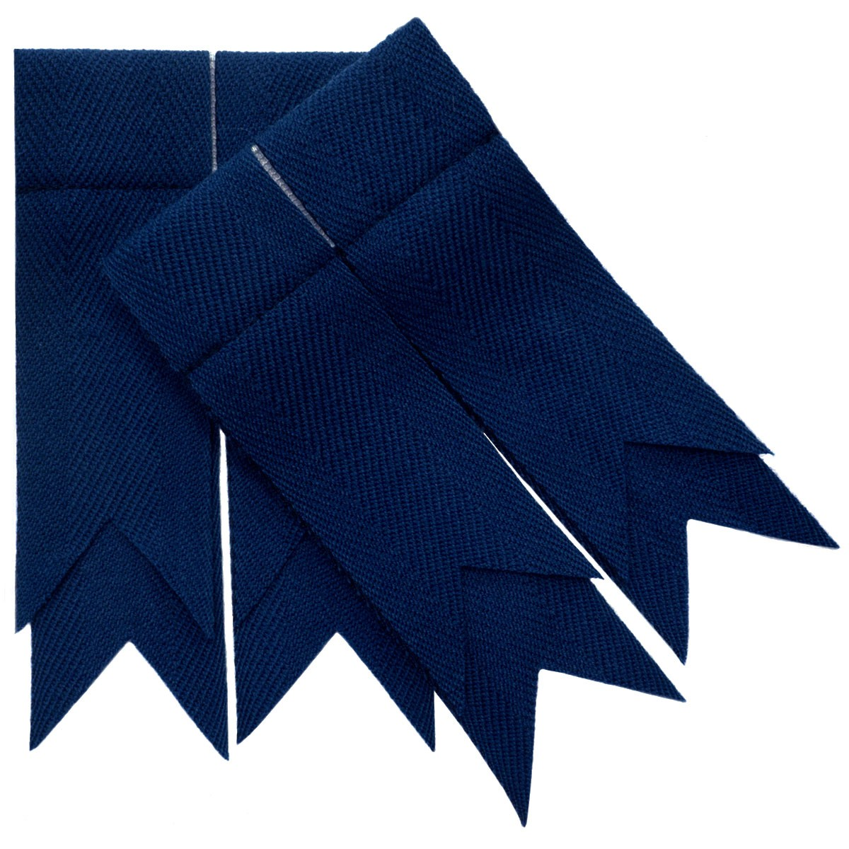 Navy Blue Plain Coloured Garter Double Flashes