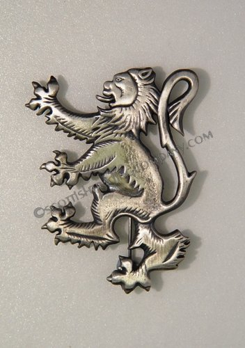 Antique Lion Rampant Brooch Kilt Pin