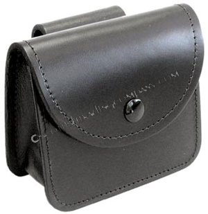 Black Leather Pouch Wallet - Standard