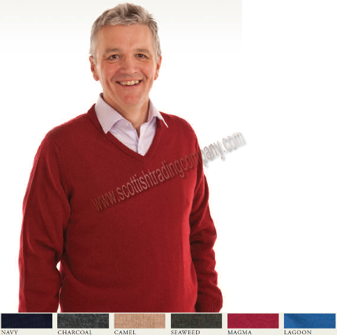 Men's Lambswool Vee Kneck Sweater
