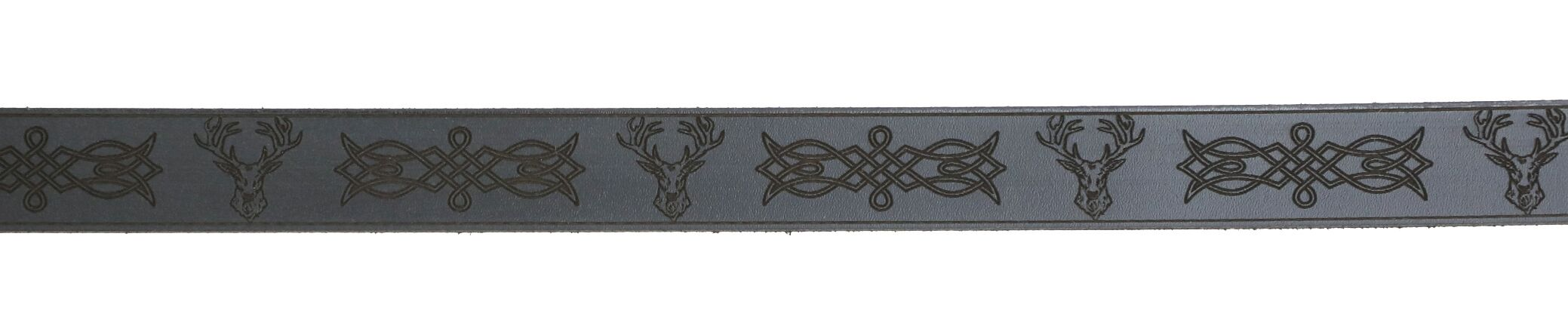Celtic Knot and Stag Leather Sporran Strap