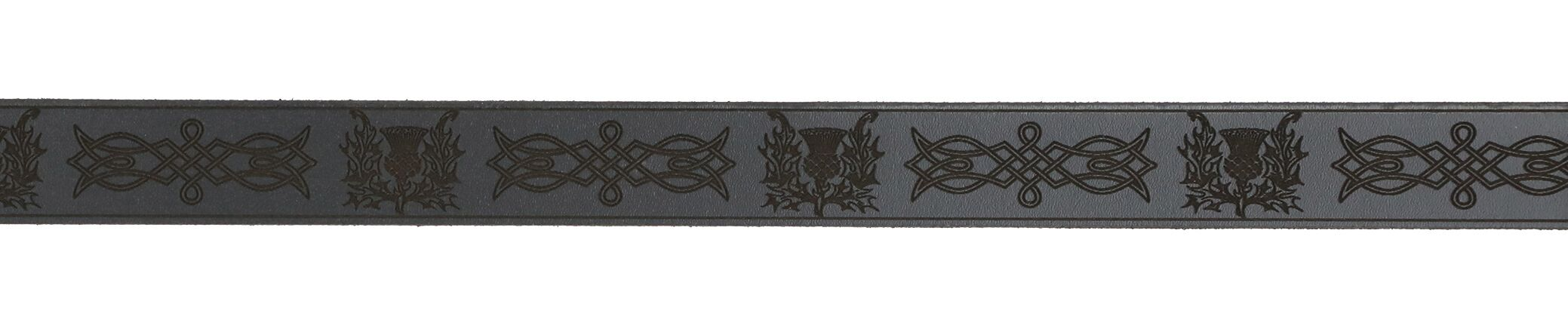 Celtic Knot and Thistle Leather Sporran Strap