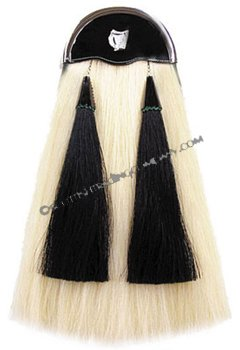 White Horsehair with Black Tassels- Lady Harp