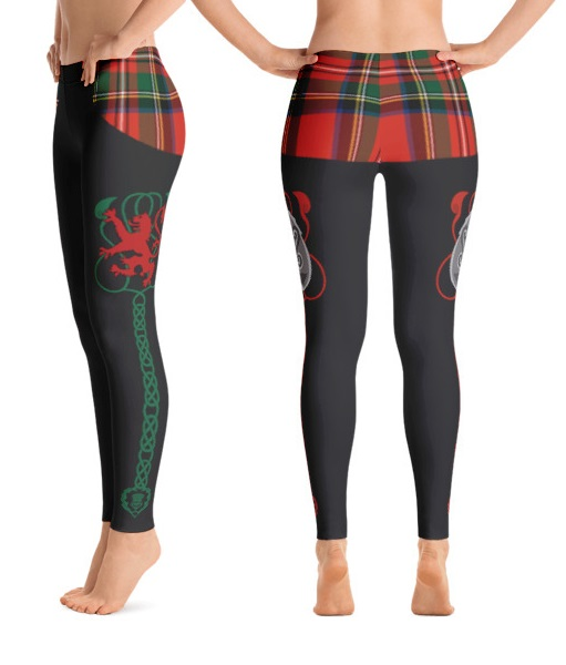 Scottish Tartan and Rampant Lion Leggings