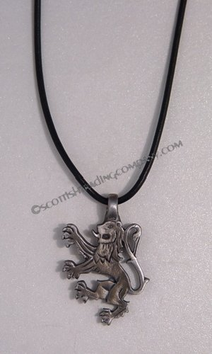 Antique Lion Rampant Pendant