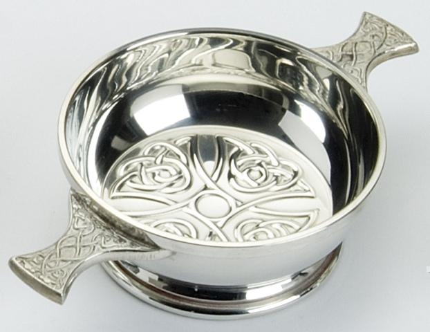 Celtic Cross Bowl Quaich