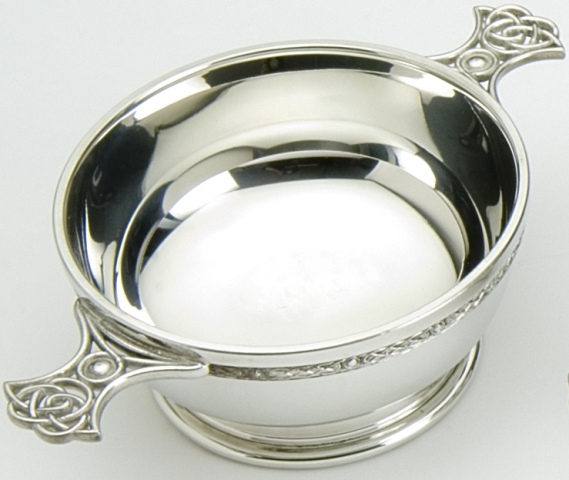 Celtic Knot Handle Quaich