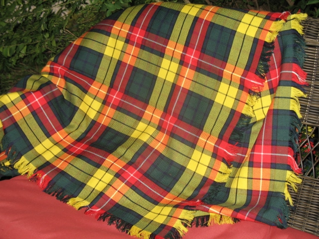 Scottish Throw Blanket In Reiver Tartans