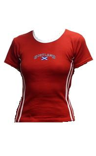 Womens Scotland flag shirt in Red