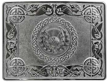 "2 1/4"" Thistle Medallion Buckle"