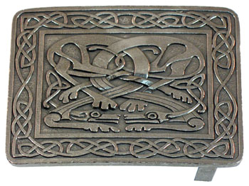 "2 1/4"" Zoomorphic Pewter Buckle"