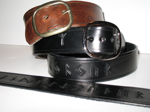 Rune Leather Jean Belt