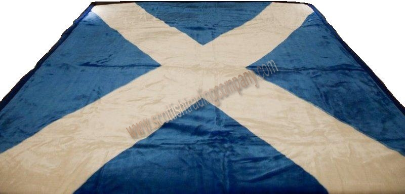 Scottish Saltire Velour Blanket