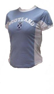 Womens Scotland Shirt in Baby Blue
