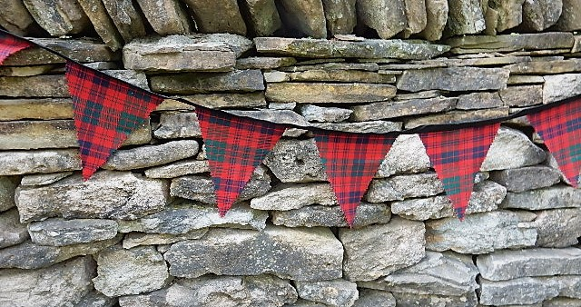 Scottish Tartan Bunting Flags 13oz Braeriach