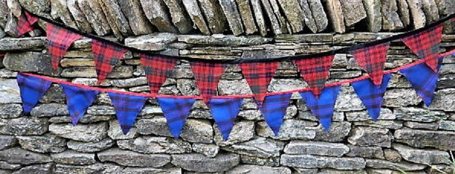 Scottish Tartan Bunting Flags 16oz Strome
