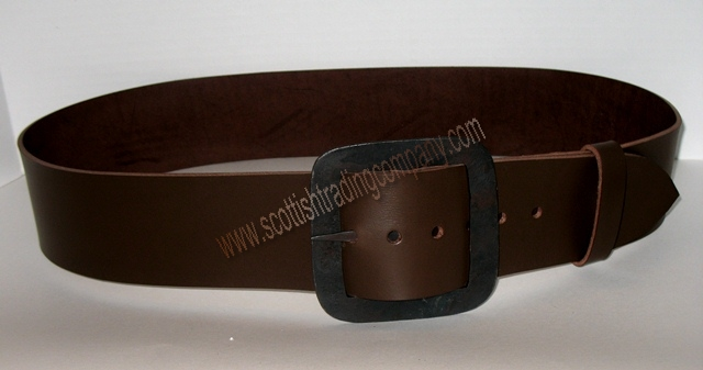 Square Hand Forged Kilt Belt and Buckle