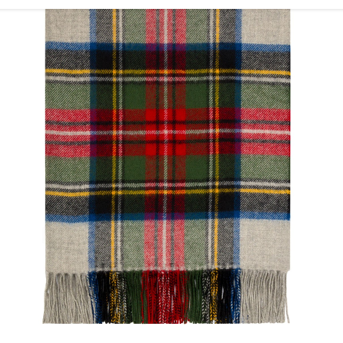Stewart Silver Dress Tartan Lambswool Blanket  ABRG STD SV  -  99.99 ... 06a927df8