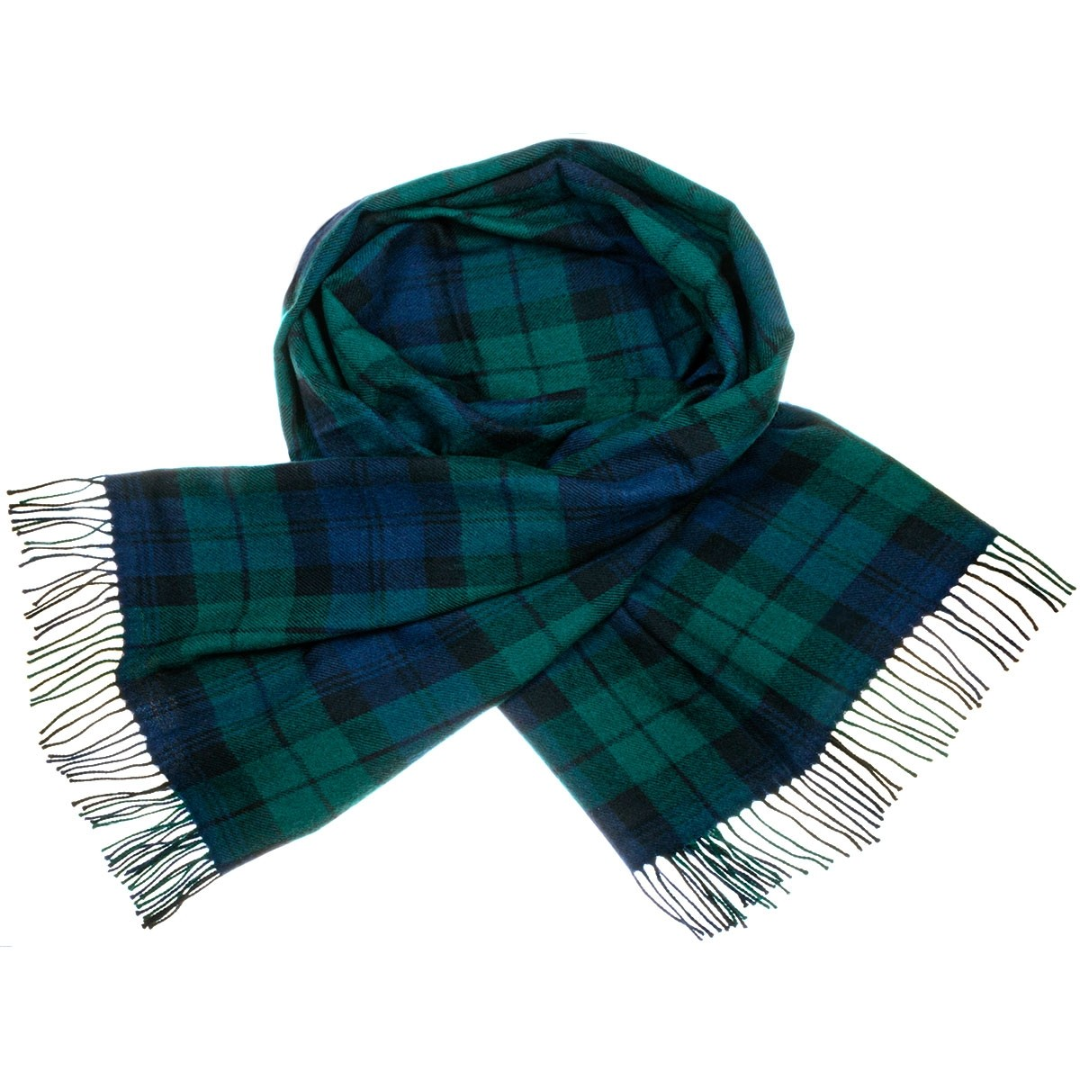 Black Watch Modern Tartan Lambswool Stole