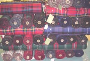 Tartan fabric swatch Medium weight 13oz.