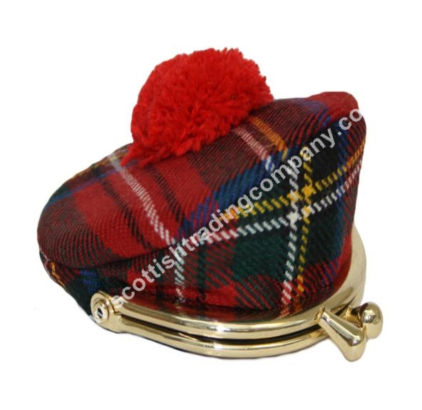 Scottish Tartan Tam Coin Purse