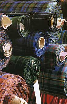 16oz Strome Weight Standard Scottish Tartan Fabric
