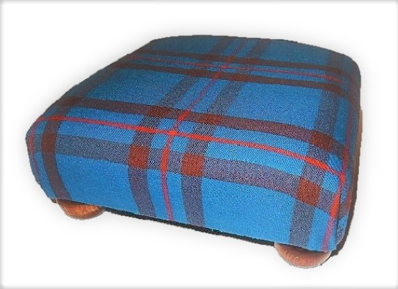 Scottish Tartan Footstool