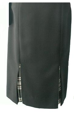 Straight Skirt with Tartan Vents