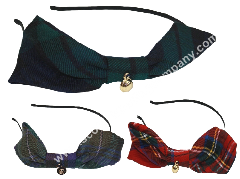 Tartan Headband with Bow