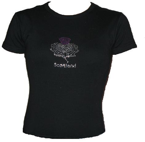 Womens Glitter Thistle shirt