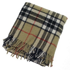 Thompson Camel Tartan Large Blanket - Click Image to Close
