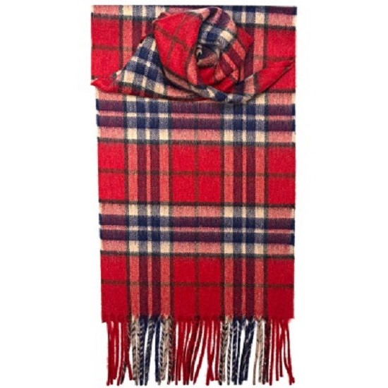 Thompson Red Antique Cashmere Scarf