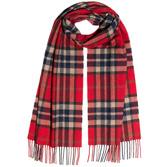 Thompson Red Antique Lambswool Scarf