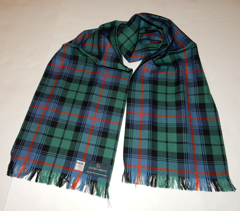 Urquhart Broad Red Ancient Tartan Scarf