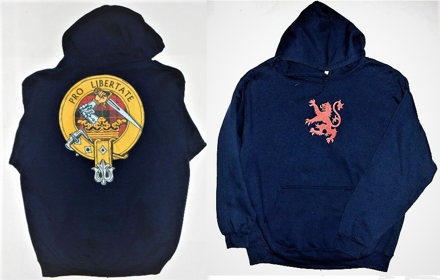 Wallace Clan Badge Hooded Sweatshirt Large